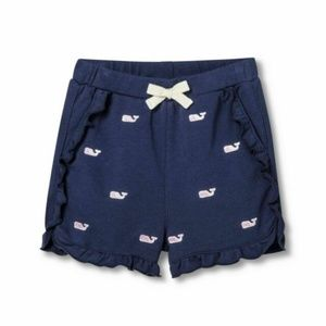 Vineyard Vines Girl Embroidered Whale Shorts
